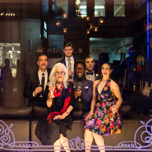 """The fabulous residents of The Flynn on opening night of """"Being Flynn."""""""